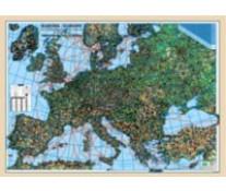 Harta plastifiata, Europa fizica-coduri postale, 140 x 100cm, AMCO PRESS