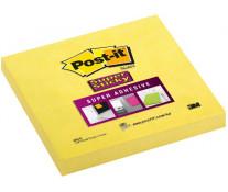 Notes autoadeziv, 76 x 76mm, 90 file/set, galben intens, POST-IT Super Sticky 654-S