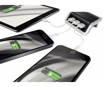 Incarcator cu trei porturi USB, negru satin, Leitz Style