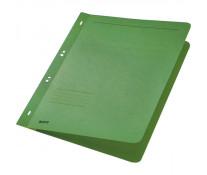 Dosar din carton, cu capse 1/1, 250 g/mp, verde, LEITZ
