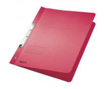 Dosar din carton, incopciat 1/1, 250 g/mp, rosu, LEITZ