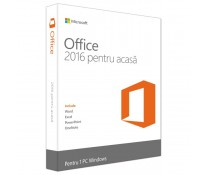 MICROSOFT OFFICE Home and Student 2016, 32/64 bit Romanian EuroZone Medialess, retail