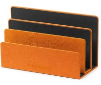 Suport pentru documente, din imitatie de piele, portocaliu, FEDON 1919 Portabuste