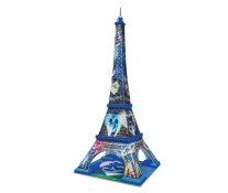 Puzzle 3D Turnul Eiffel Mickey si Minnie, 216 piese, RAVENSBURGER Puzzle 3D