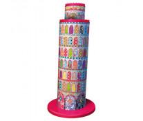 Puzzle 3D Turnul din Pisa colorat, 216 piese, RAVENSBURGER Puzzle 3D