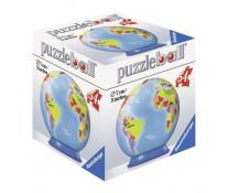 Puzzle 3D Globul pamantesc, 54 piese, RAVENSBURGER Puzzle 3D