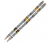 Creion cu mina grafit, HB, 2 buc/set, HERLITZ Smiley World Rock