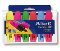 Textmarker, 6 culori/set, PELIKAN 490