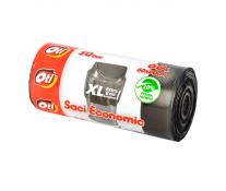 Saci menaj, 60L, 20 bucrola, negru, OTI Economic XL