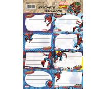 Etichete scolare, 40 buc./set, SPIDERMAN