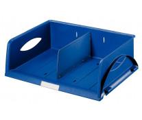 Tavita documente, cu separator, albastru, LEITZ Sorty