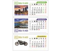 Calendar birou 100% personalizabil, 7 file, print fata-verso