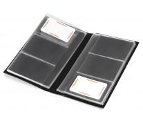 Clasor pentru carti de vizita, negru, piele de bovina, FEDON Classica P-Biglietti-84