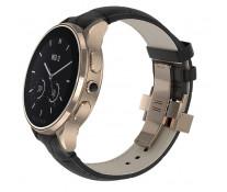 SmartWatch VECTOR Watch Luna, rose gold, curea neagra din piele croco