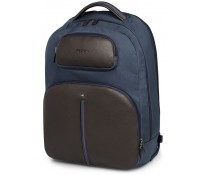 """Troller pentru laptop 15"""", din piele de bovina, maro cu albastru, FEDON Web-Trolley-Bp"""