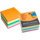Notes autoadeziv cub, 75 x 75mm, 450 file/set, diferite culori intense, INFO NOTES Mix