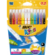 Carioci, 12 culori/set, BIC KiDS COLOUR & ERASE