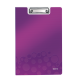 Clipboard A4, cu coperta, mov metalizat, LEITZ WOW
