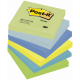 "Notesuri autoadezive (6 seturi), 76 x 76mm, 100 file/set, diferite culori neon, POST-IT ""DREAMY"" 654-MTDR"