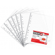 File din plastic, A4, transparent cristal, 45 mic., 100 buc./set, PIGNA W-up