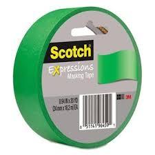 Banda adeziva decorativa verde SCOTCH