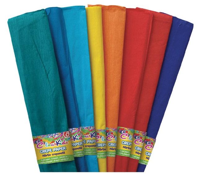 Hartie creponata 10 culori/set PIGNA ColourKids