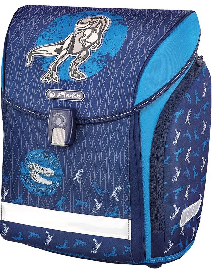 Ghiozdan Ergonomic  Herlitz Midi Blue Dino