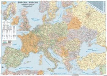 Harta plastifiata Europa politica si rutiera 140 x 100cm AMCO PRESS