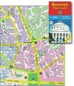 Harta pliata Bucuresti administrativ-rutiera 70 x 100cm AMCO PRESS