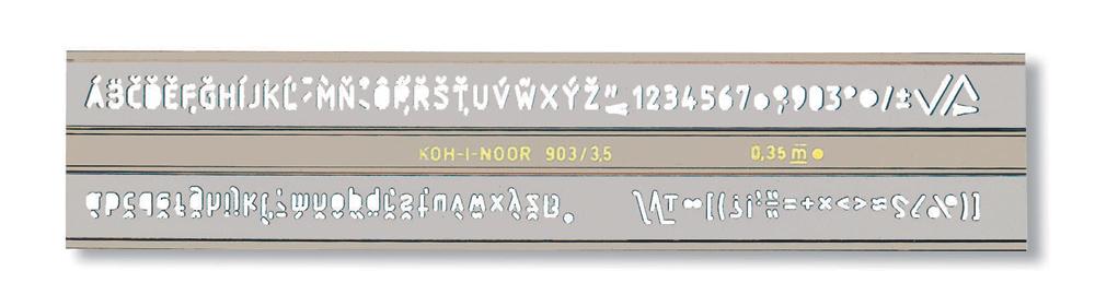 Sablon litere/cifre 2.5mm tip 903 KOH-I-NOOR