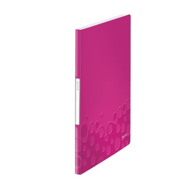 Mapa de prezentare, A4, 20 de folii de protectie, roz metalizat, LEITZ WOW