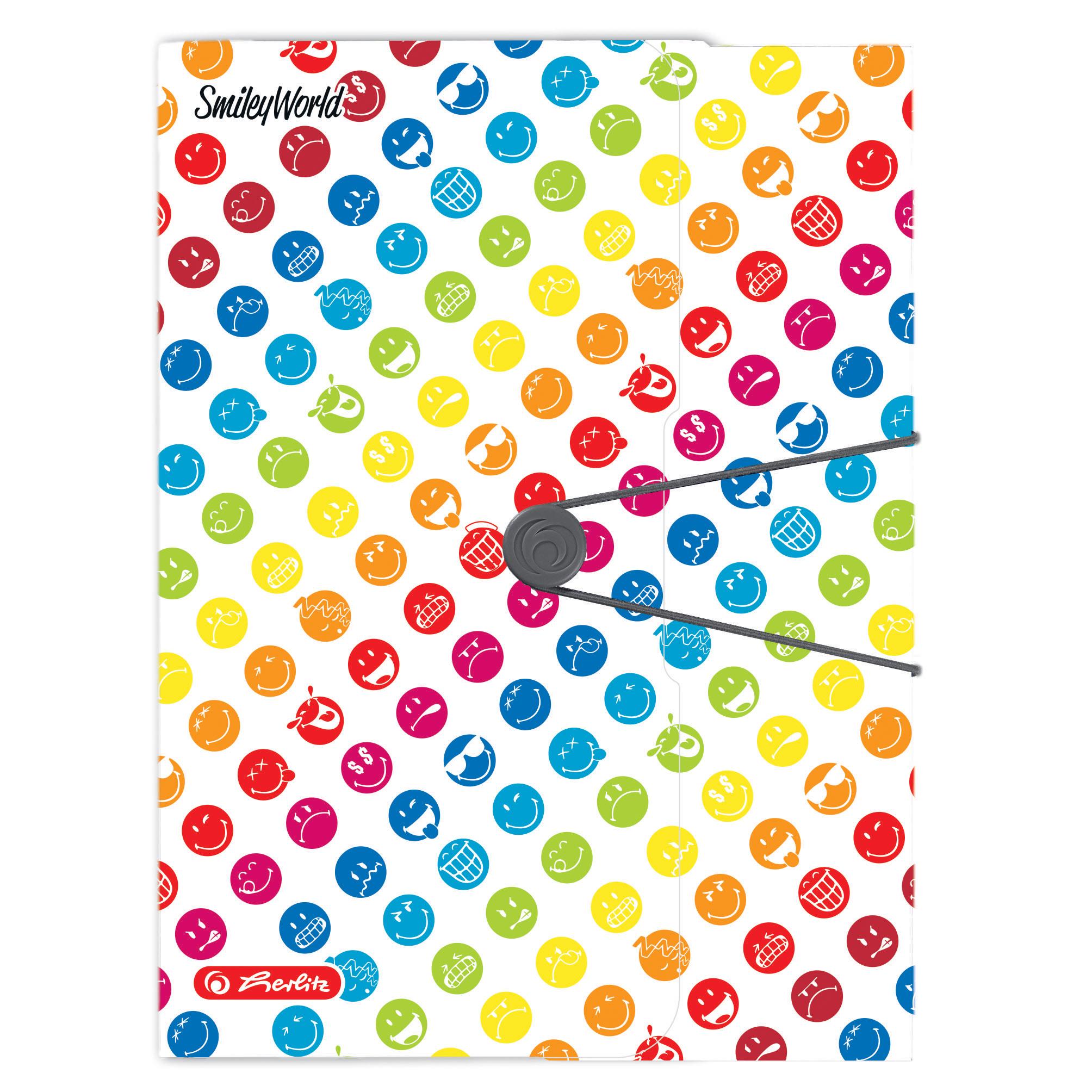 Mapa din plastic pentru documente A4 HERLITZ Easy.Orga To Go Smiley World Rainbow