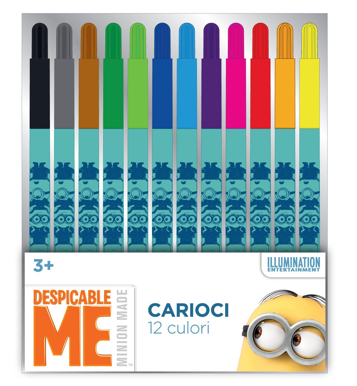 Carioci 12 culori/set MINIONS