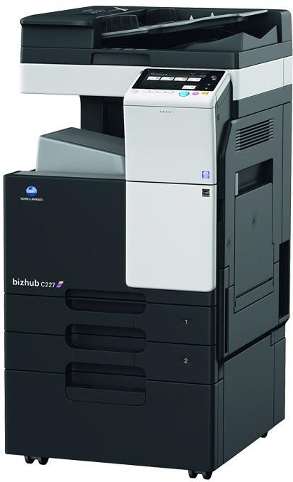 Multifunctional Laser Color Konica Minolta Bizhub C227  A3 + Feeder (df-628) + Desk (dk-514) + Tonere (bk/c/m/y)