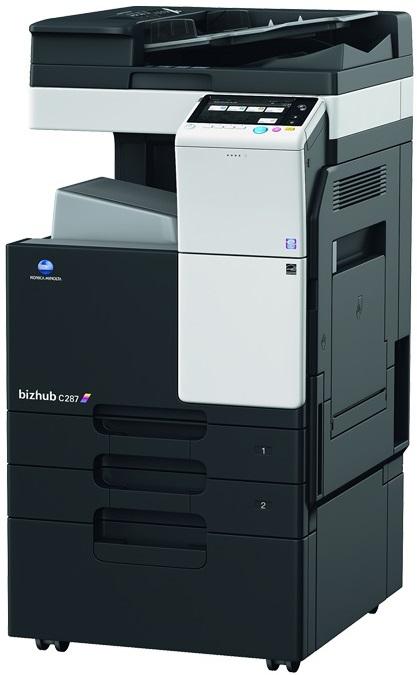 Multifunctional Laser Color Konica Minolta Bizhub C287  A3 + Feeder (df-628) + Desk (dk-514) + Tonere (bk/c/m/y)