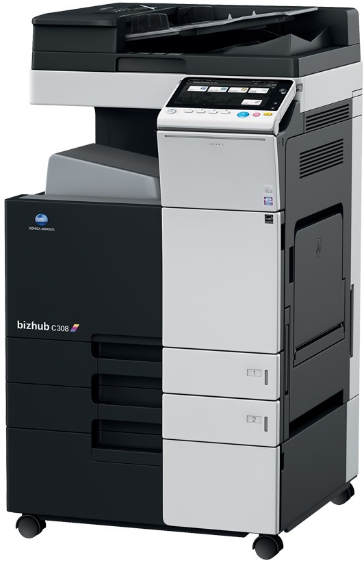 Multifunctional Laser Color Konica Minolta Bizhub C308  A3 + Feeder (df-629) + Desk (dk-510) + Tonere (bk/c/m/y)