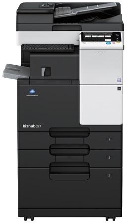 Multifunctional Laser Monocrom Konica Minolta Bizhub 287  A3 + Feeder (df-628) + Desk (dk-514) + Toner (tn323)
