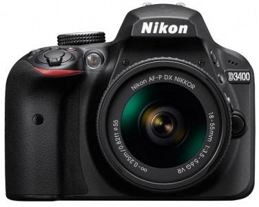 Nikon D3400 Kit Af-p 18-55mm Vr (black)