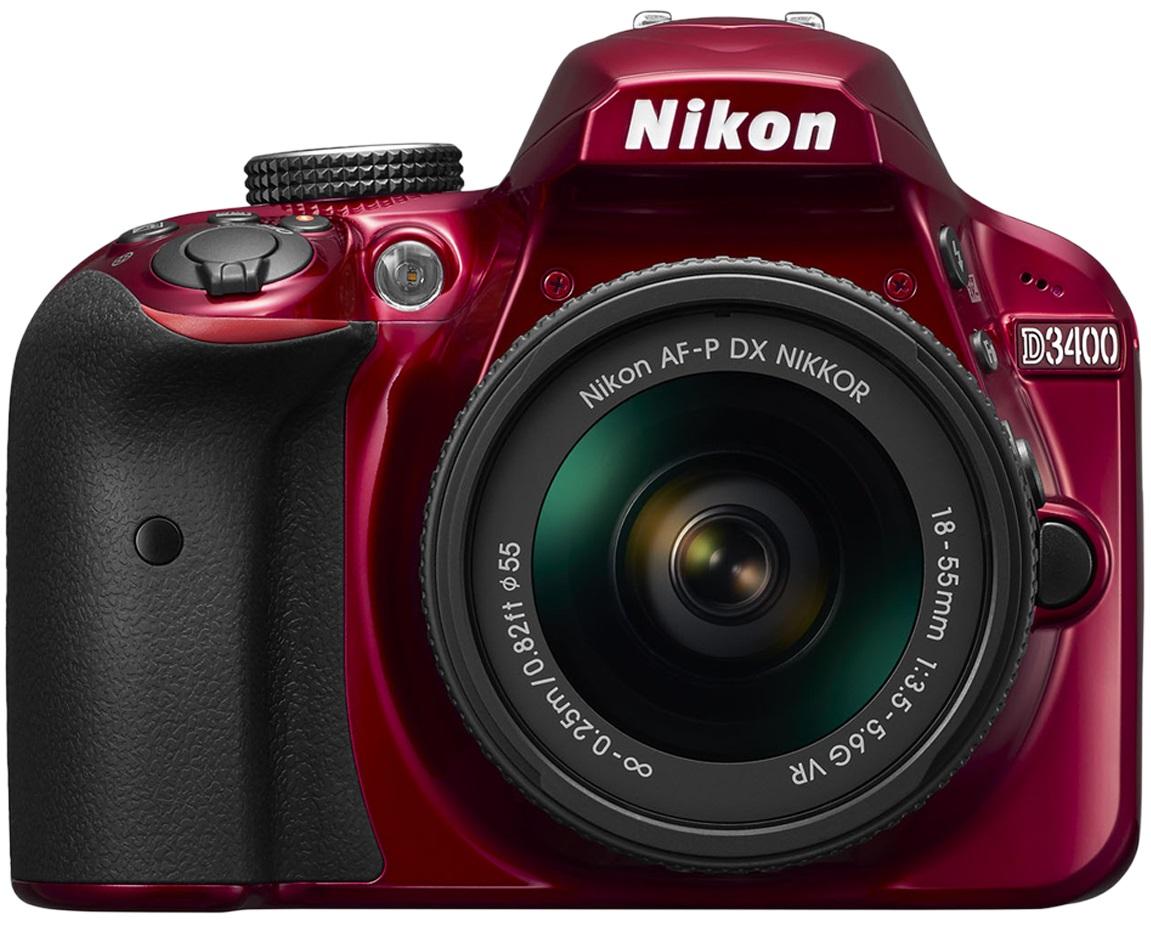 Nikon D3400 Kit Af-p 18-55mm Vr (red)