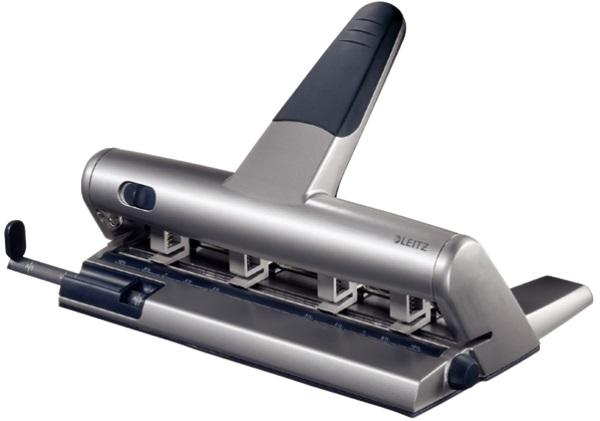Perforator Metalic Pentru 4 Perforatii  Max. 30 Coli  Argintiu  Leitz 5114