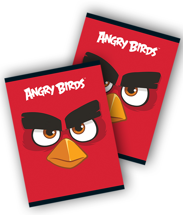 Caiet A5 80 file matematica ANGRY BIRDS
