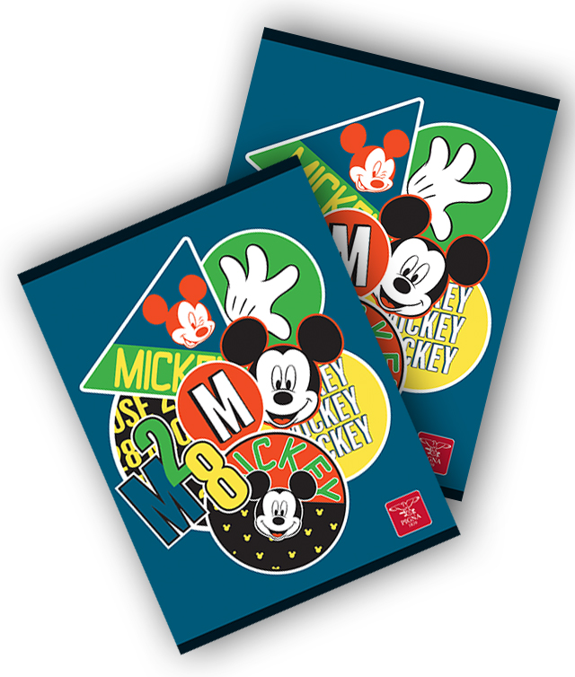 Caiet A4 60 file matematica MICKEY MOUSE