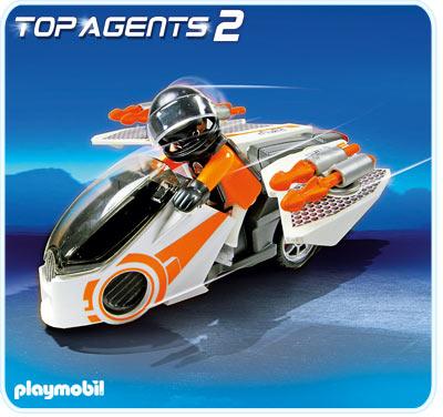 Motocicleta spionilor PLAYMOBIL Top Agents