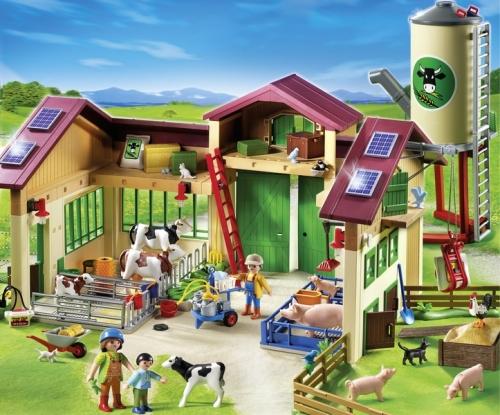 Ferma cu siloz PLAYMOBIL Farm