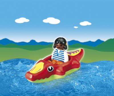 Copil cu barca PLAYMOBIL 1.2.3