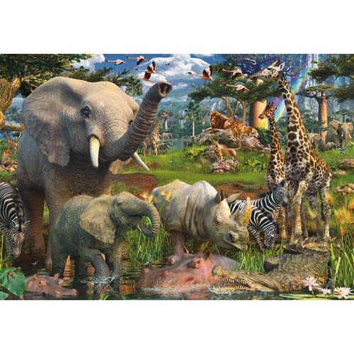 Puzzle animale in salbaticie 18000 piese RAVENSBURGER Puzzle Adulti