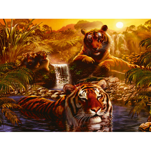Puzzle tigri 2000 piese RAVENSBURGER Puzzle Adulti