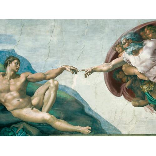 Puzzle Michelangelo - Crearea Lui Adam  1000 Piese  Ravensburger Puzzle Adulti