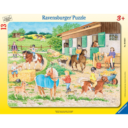Puzzle adapost de cai 13 piese RAVENSBURGER Puzzle Copii