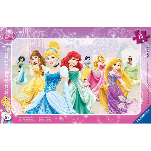 Puzzle Printesele Disney 15 piese RAVENSBURGER Puzzle Copii